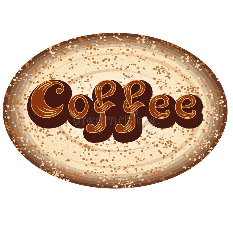 Datei ENV 10 Für Cafeteria- oder Kaffeemenülogo stock abbildung