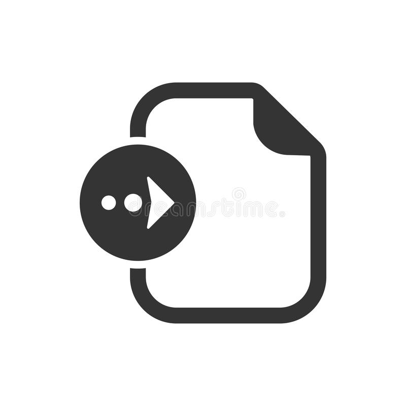 Datei-Import-Ikone lizenzfreie abbildung