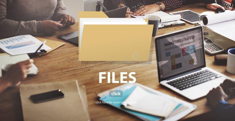 Datei-Ordner-Daten-Dokumenten-Speicher-Konzept stockfotografie