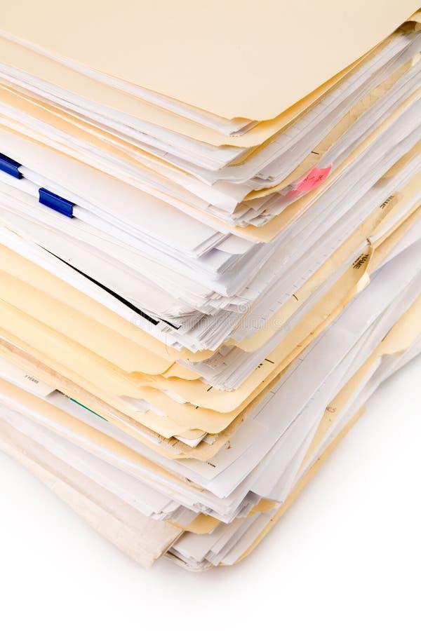 Datei-Stapel lizenzfreies stockfoto