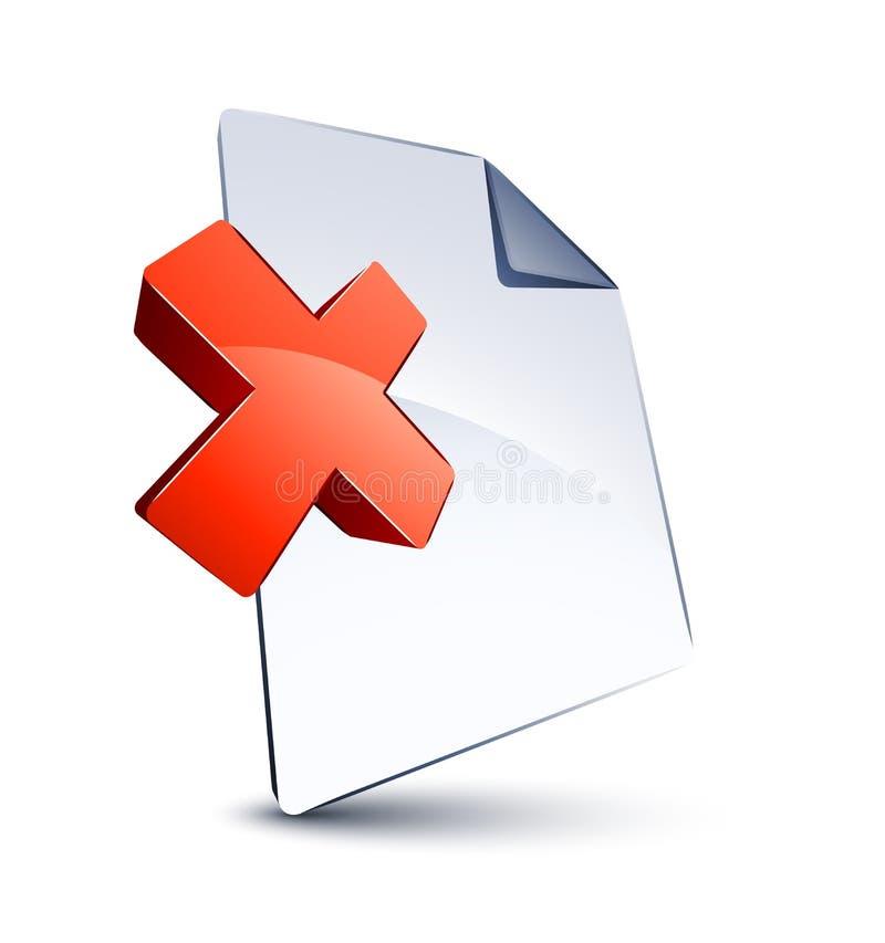 Datei- und x-Form stock abbildung