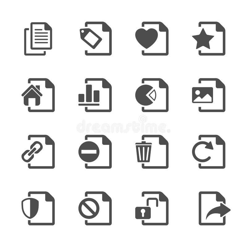 Dateidokumentenikone stellte 2, Vektor eps10 ein lizenzfreie abbildung