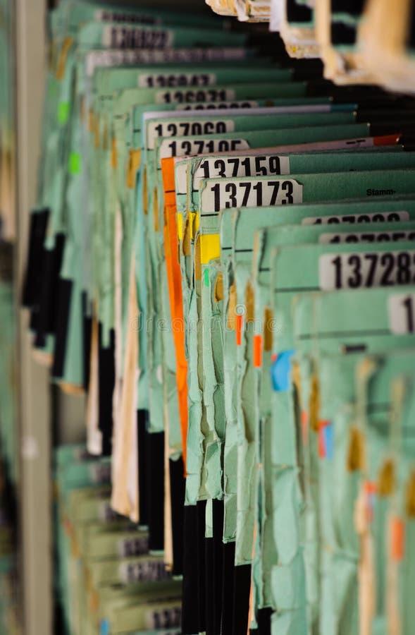 Dateien lizenzfreie stockfotos