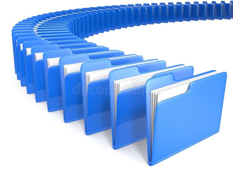 Dateien. stock abbildung