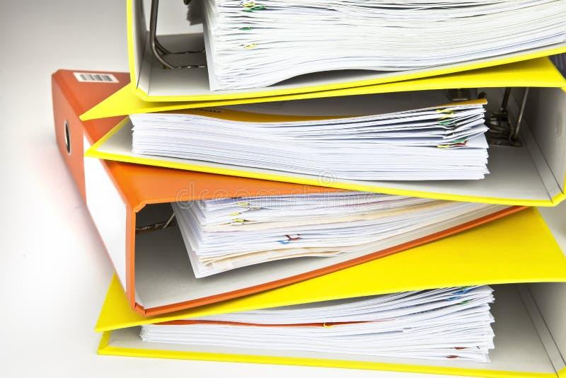 Dateifaltblätter stockbilder