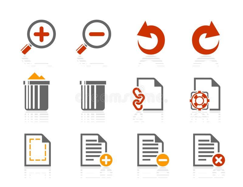 Dateihandhabungsikonen | Sonnenschein-Hotelserie vektor abbildung