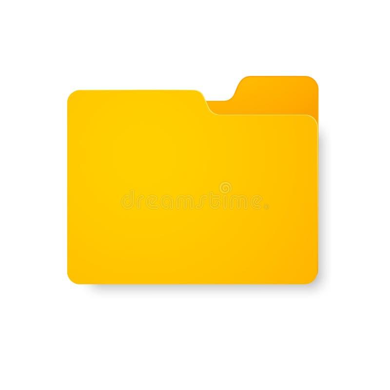 Dateiordner Realistische Wiedergabe des Datei-Ordners auf lokalisiertem weißem Hintergrund lizenzfreie abbildung