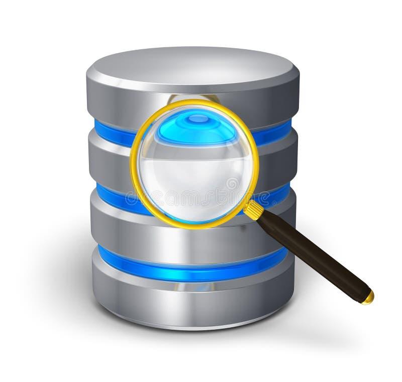 Dateirecherche und Festplattendiagnostikkonzept lizenzfreie abbildung