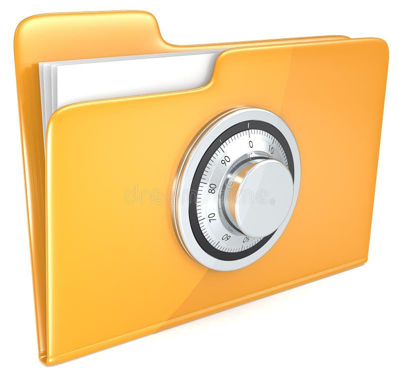 Dateisicherung. lizenzfreie abbildung