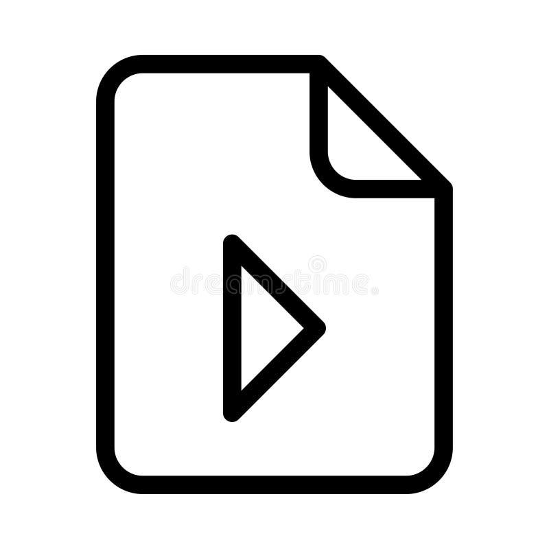 Dateispiellinie VEKTOR-Ikone stock abbildung