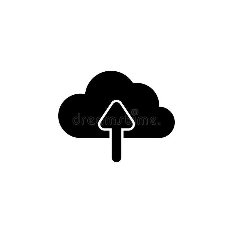 Dateiwolken-Pfeilikone Zeichen und Symbole können für Netz, Logo, mobiler App, UI, UX verwendet werden vektor abbildung