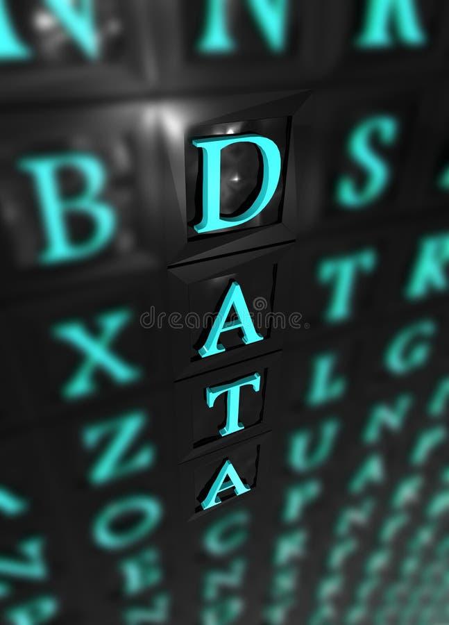 Daten vektor abbildung