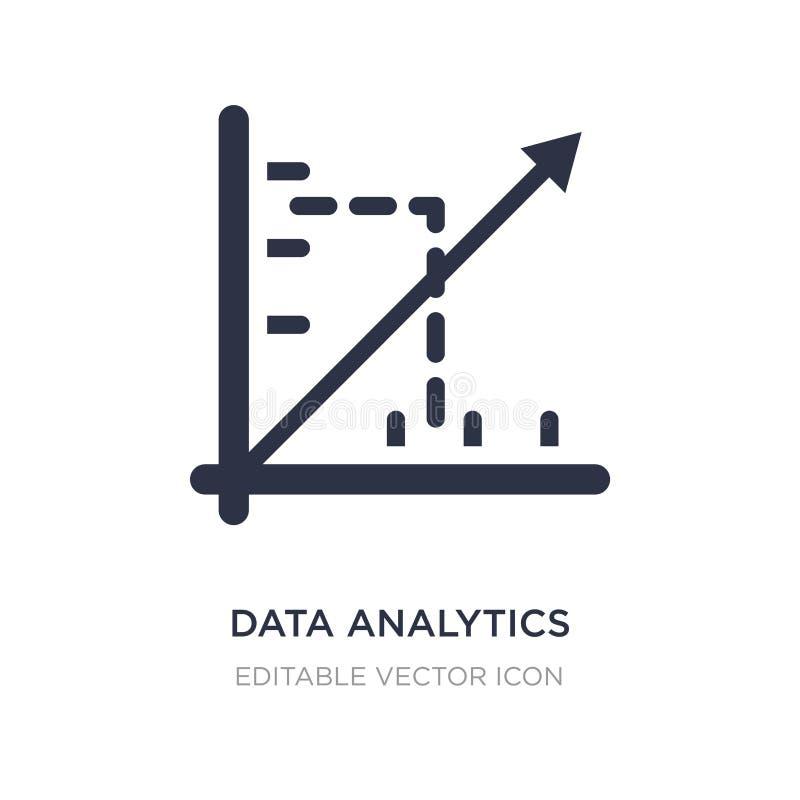 Daten Analytics Pseudografikikone auf weißem Hintergrund Einfache Elementillustration von Seo und vom Netzkonzept stock abbildung
