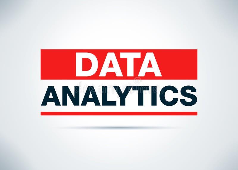 Daten Analytics-Zusammenfassungs-flache Hintergrund-Entwurfs-Illustration vektor abbildung