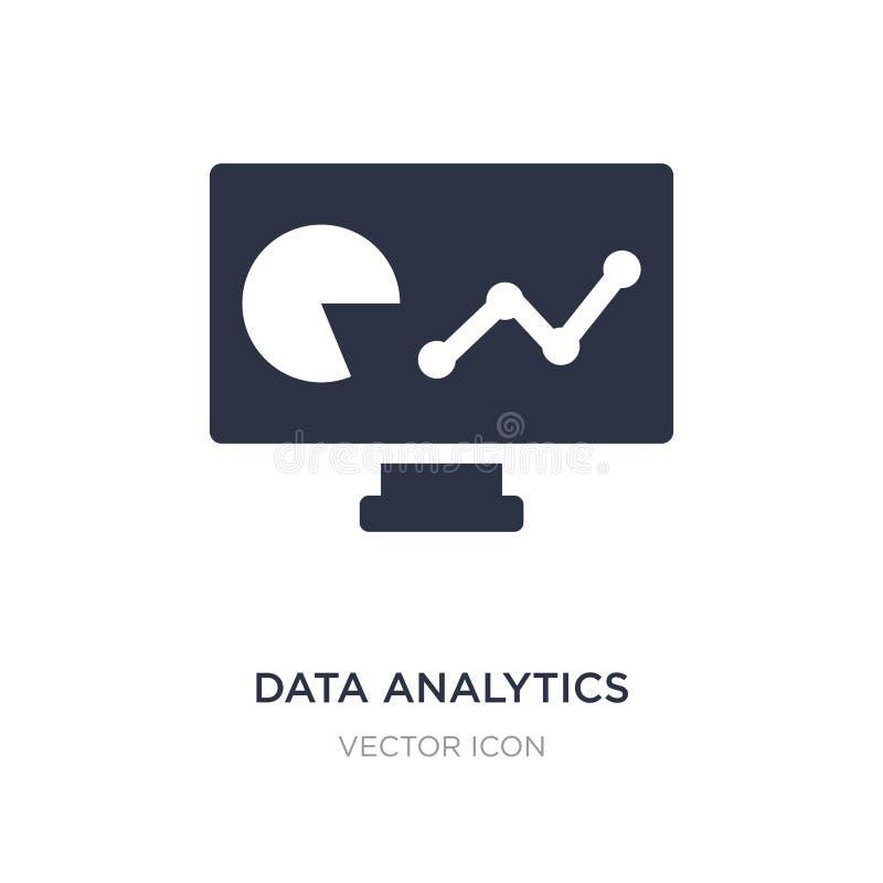 Daten Analyticsikone auf weißem Hintergrund Einfache Elementillustration vom Geschäfts- und Analyticskonzept lizenzfreie abbildung