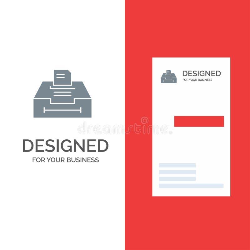 Daten, Archiv, Geschäft, Informationen Grey Logo Design und Visitenkarte-Schablone vektor abbildung