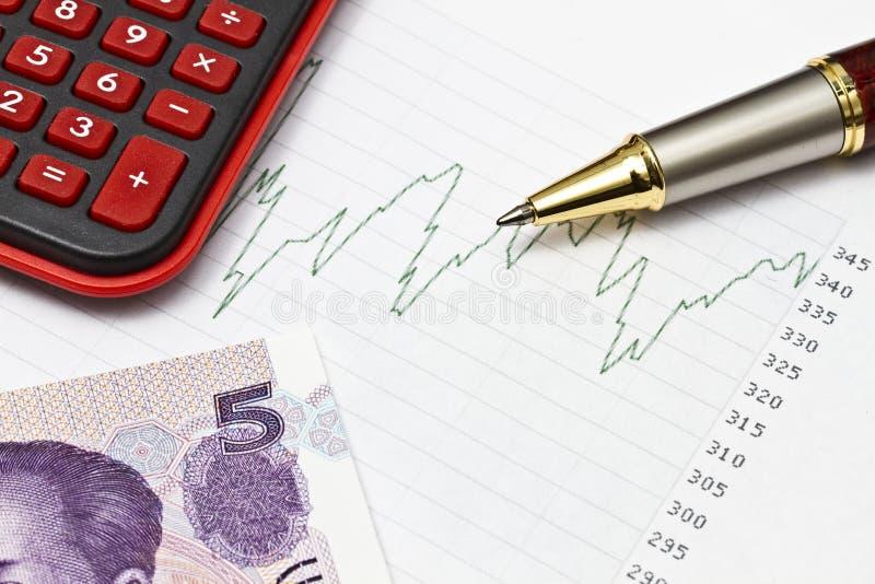 Daten, die in der Börse oder in anderen analysieren stockfotos