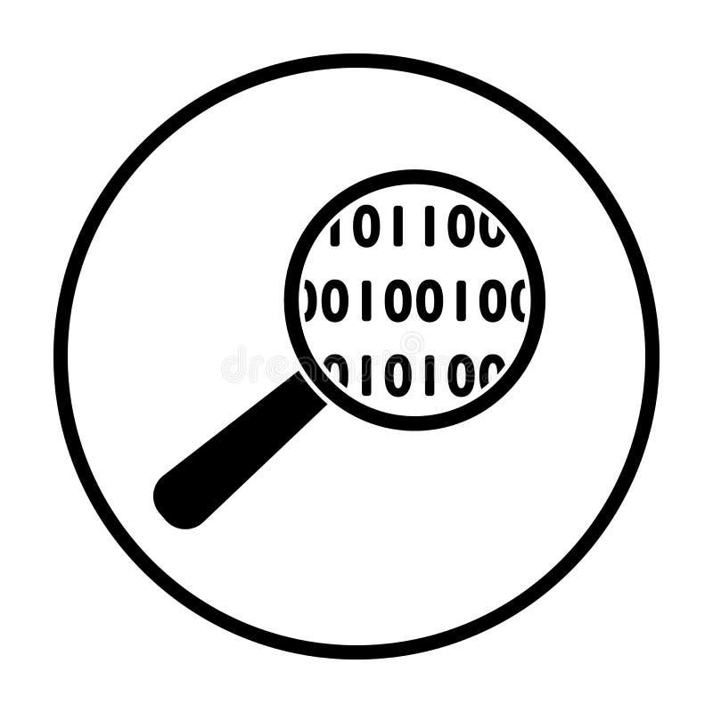 Daten, die Ikone analysieren lizenzfreie abbildung