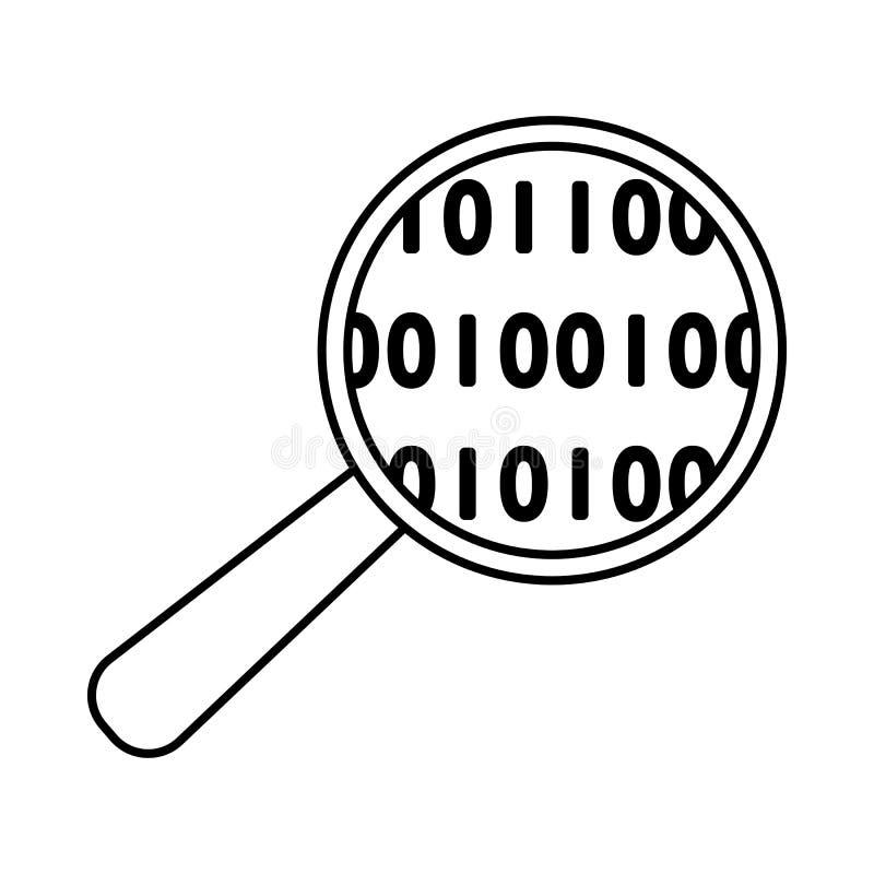 Daten, die Ikone analysieren vektor abbildung