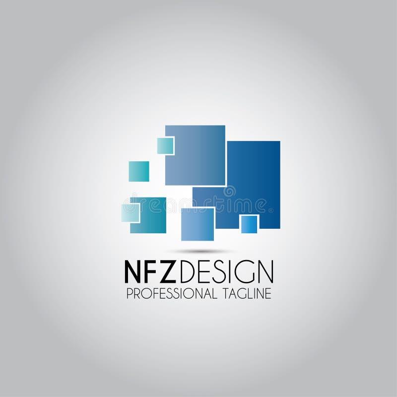 Daten-Digital-Technologie-Logo lizenzfreie abbildung