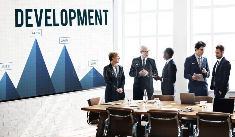 Daten-Entwicklungs-Leistungs-Forschungs-Konzept lizenzfreies stockfoto