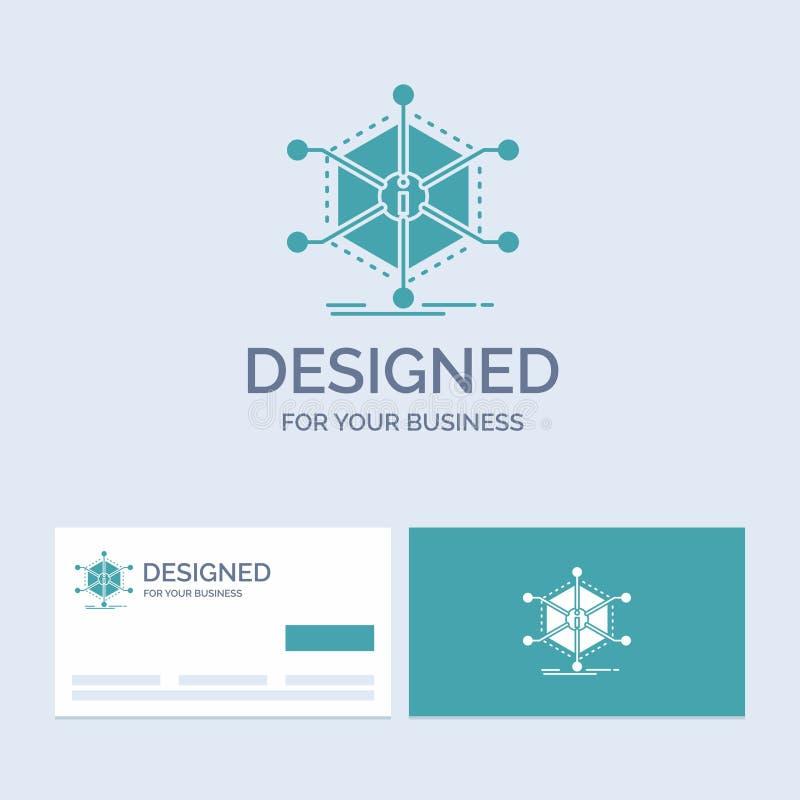 Daten, Hilfe, Informationen, Informationen, Betriebsmittel Geschäft Logo Glyph Icon Symbol für Ihr Geschäft T?rkis-Visitenkarten  stock abbildung