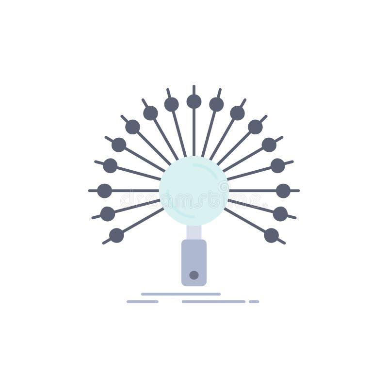 Daten, Informationen, informierend, Netz, Wiederherstellung flacher Farbikonen-Vektor vektor abbildung