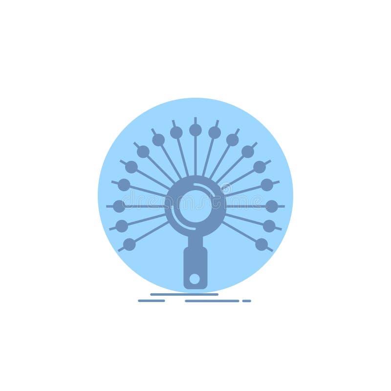 Daten, Informationen, informierend, Netz, Wiederherstellung Glyph-Ikone lizenzfreie abbildung