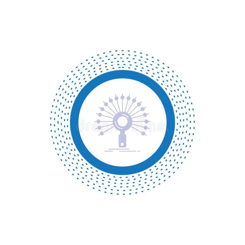 Daten, Informationen, informierend, Netz, Wiederherstellung Glyph-Ikone Vektor lokalisierte Illustration lizenzfreie abbildung