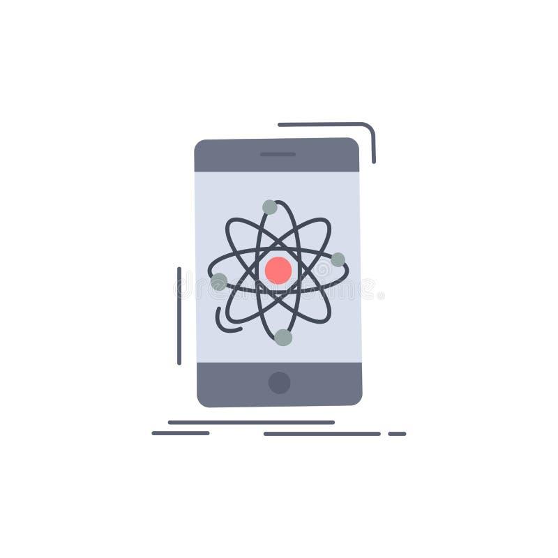 Daten, Informationen, Mobile, Forschung, Wissenschaft flacher Farbikonen-Vektor vektor abbildung