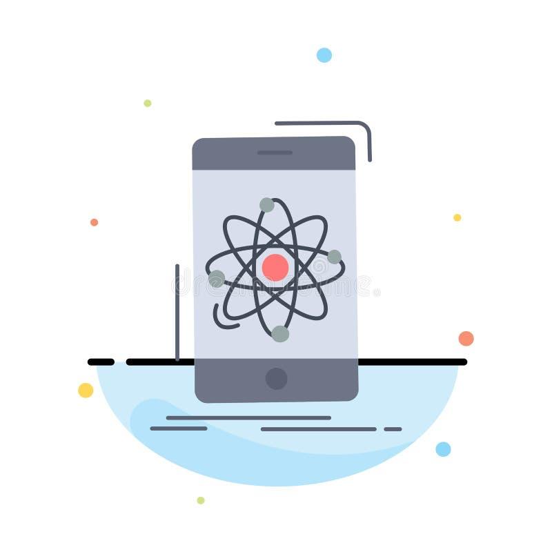 Daten, Informationen, Mobile, Forschung, Wissenschaft flacher Farbikonen-Vektor lizenzfreie abbildung