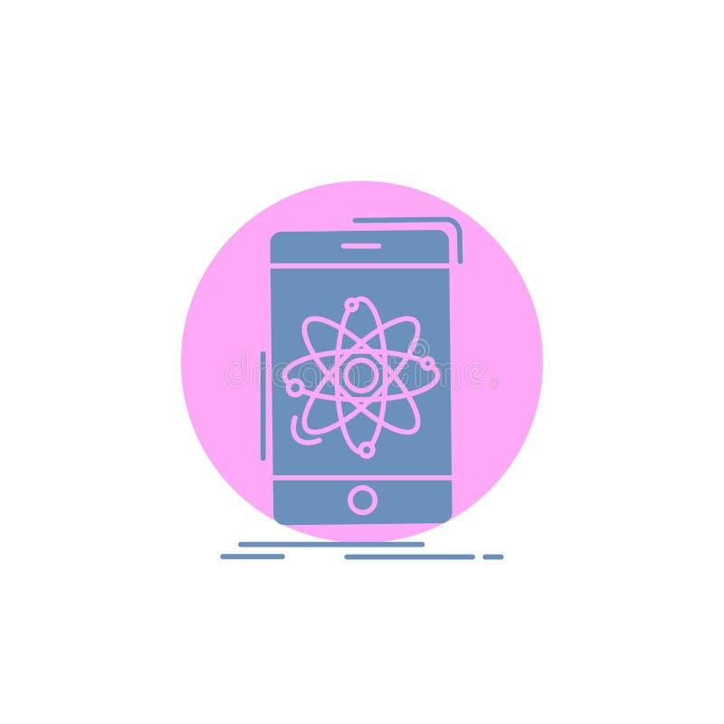 Daten, Informationen, Mobile, Forschung, Wissenschaft Glyph-Ikone vektor abbildung