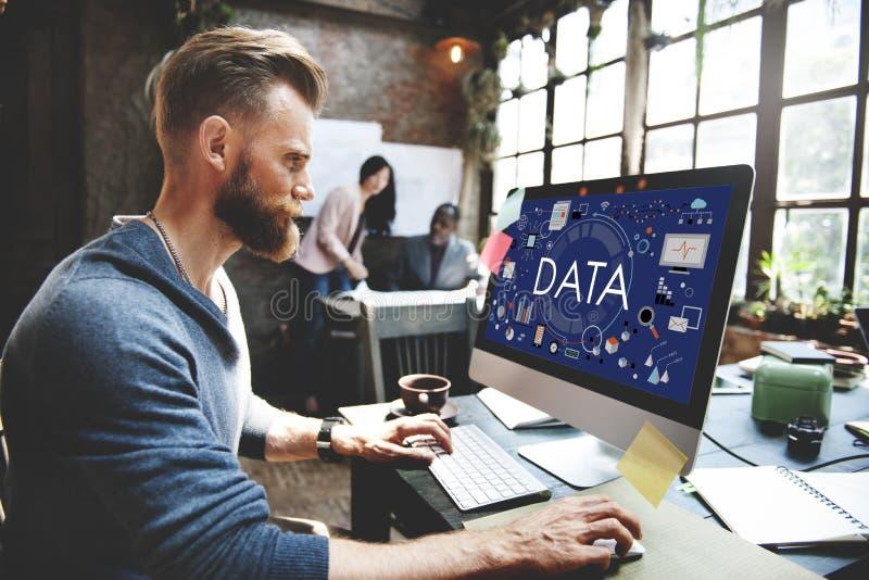 Daten-Informations-Statistik-Technologie-Analyse-Konzept lizenzfreies stockbild