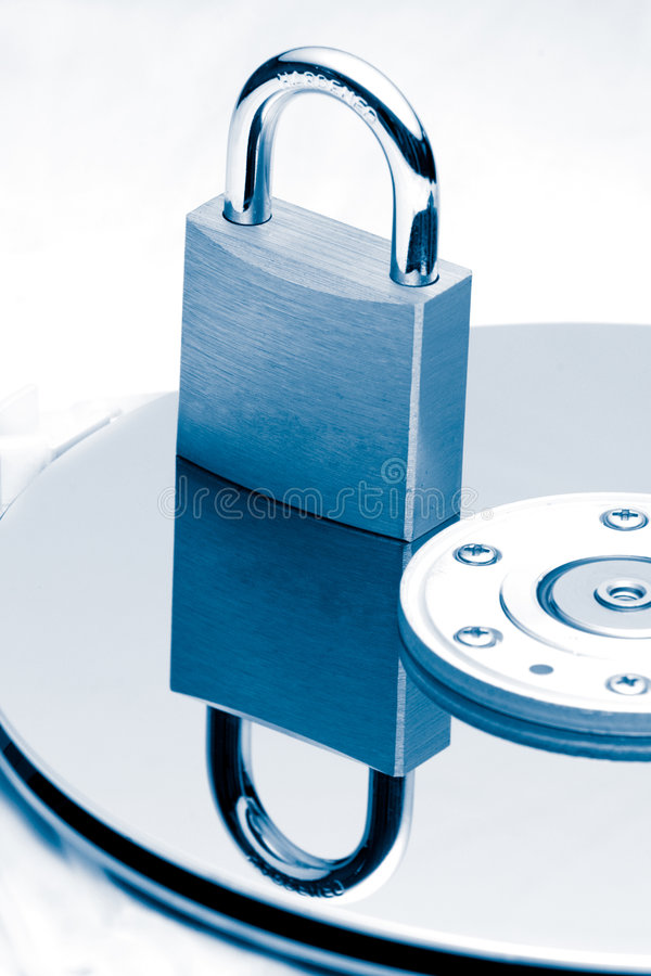 Daten-Schutz (blaue Tönung) lizenzfreies stockfoto
