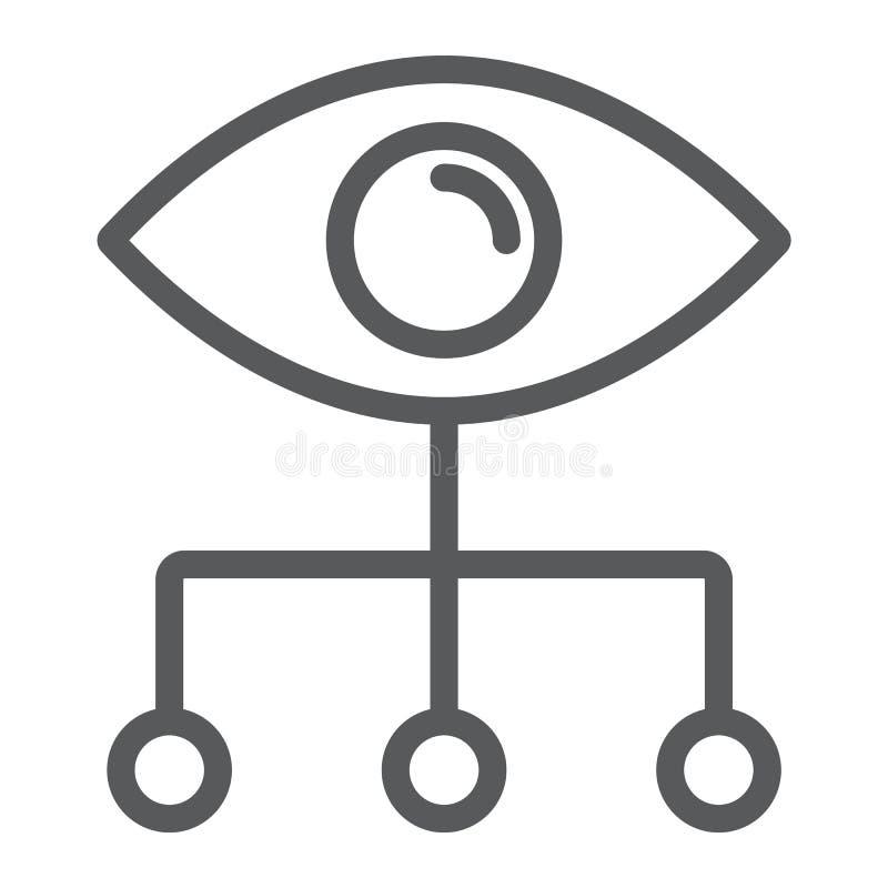 Daten-Sichtbarmachungslinie Ikone, Daten und Analytik stock abbildung
