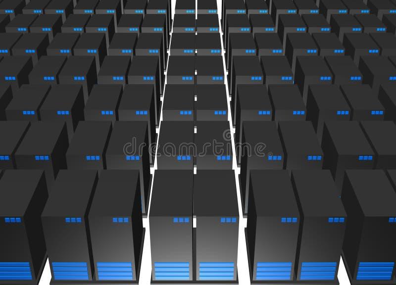 Daten-Speicher-Mitte in der Internet-Industrie vektor abbildung