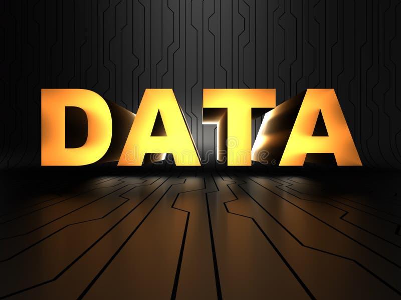 Daten - uninterpreted Informationen lizenzfreies stockbild