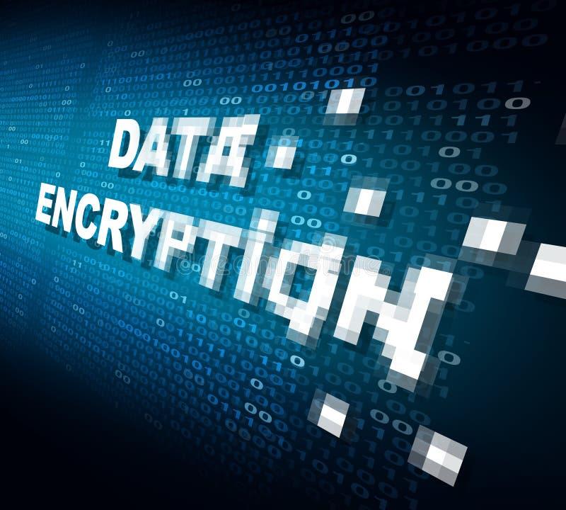 Daten-Verschlüsselung lizenzfreie abbildung