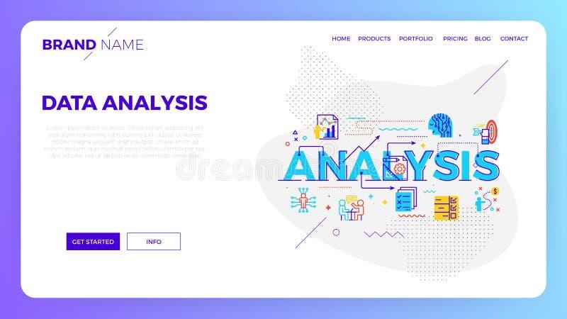 Datenanalyse-Netzschablone stock abbildung