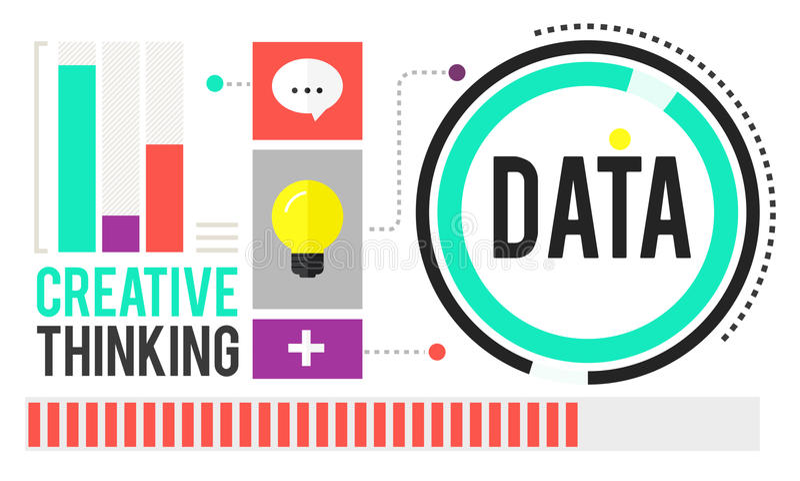 Datenanalyse-Speicher-Informations-Konzept vektor abbildung