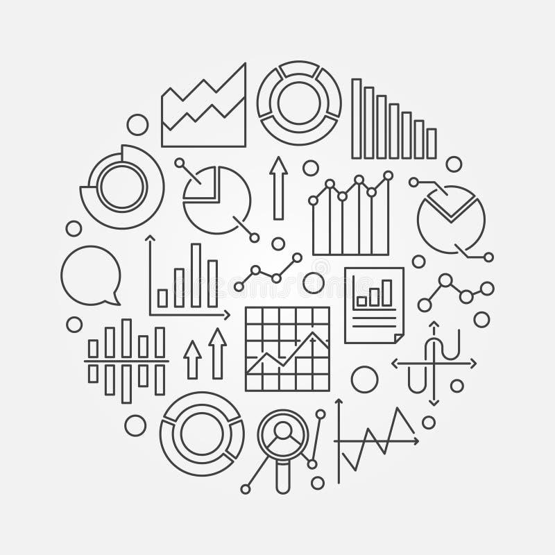 Datenanalytik-Entwurfsillustration lizenzfreie abbildung