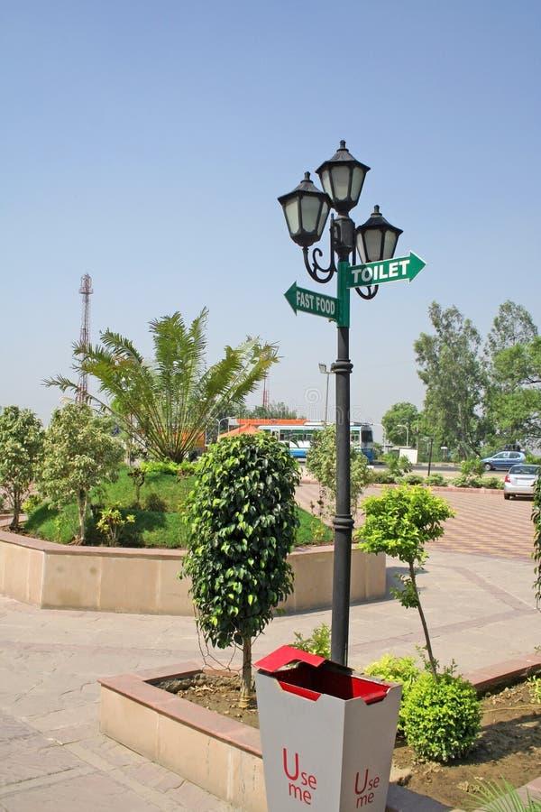 Datenbahn allgemeine utilties, Karnal, Indien stockbilder