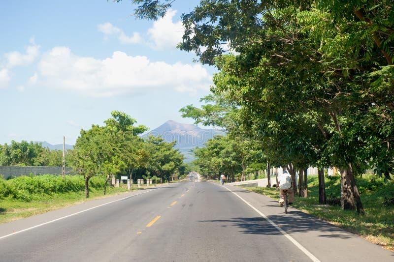Datenbahn in Leon, Nicaragua lizenzfreies stockbild