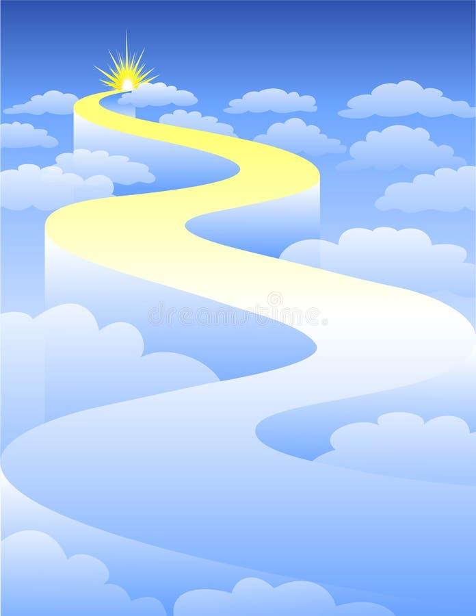 Datenbahn zum Himmel/ENV vektor abbildung