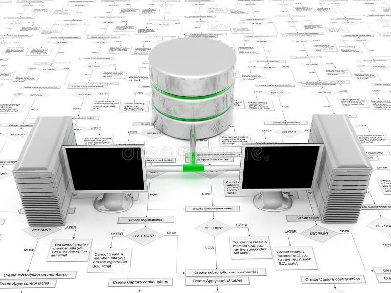 Datenbank 3D lizenzfreie abbildung