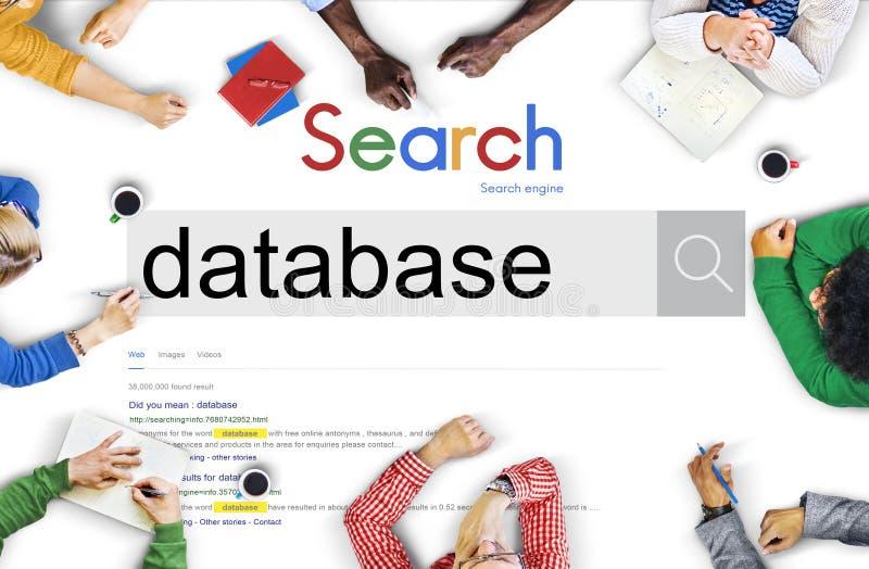 Datenbank-Daten-Aushilfsinformations-Netzwerk-Server-Konzept vektor abbildung