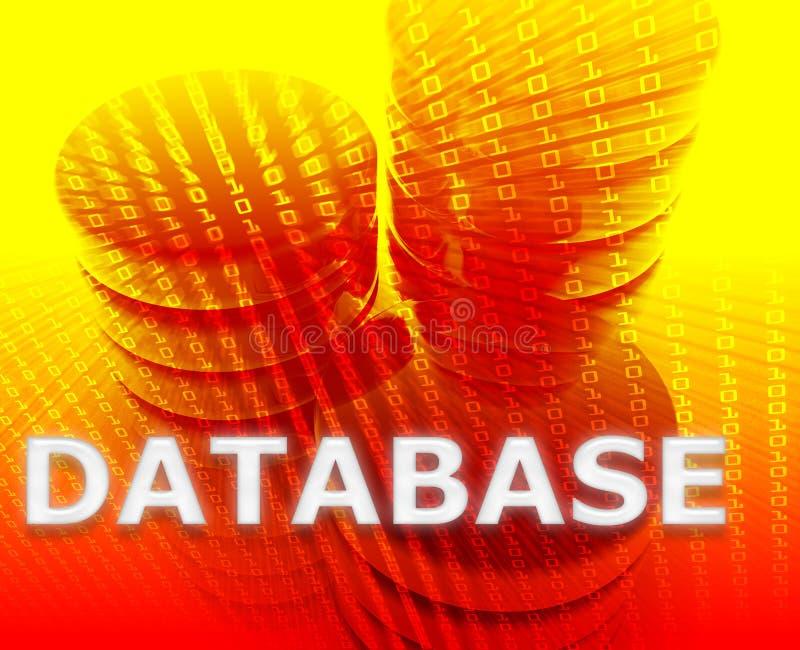 Datenbank- Datenspeicher stock abbildung