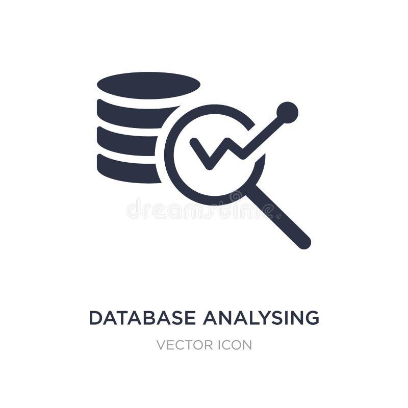 Datenbank, die Ikone auf weißem Hintergrund analysiert Einfache Elementillustration vom Geschäfts- und Analyticskonzept stock abbildung