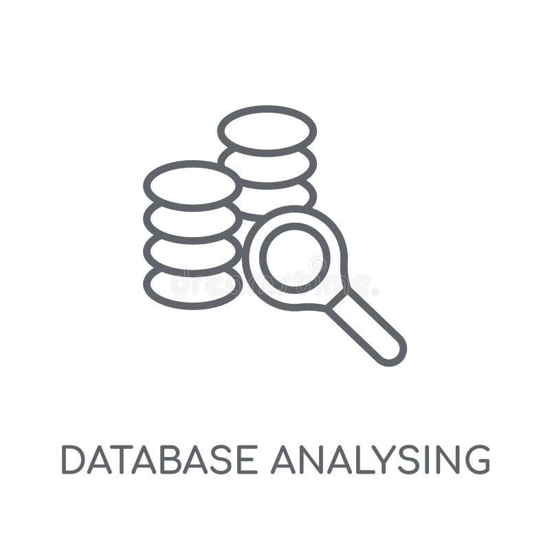 Datenbank, die lineare Ikone analysiert Moderne Entwurf Datenbank Analysin stock abbildung