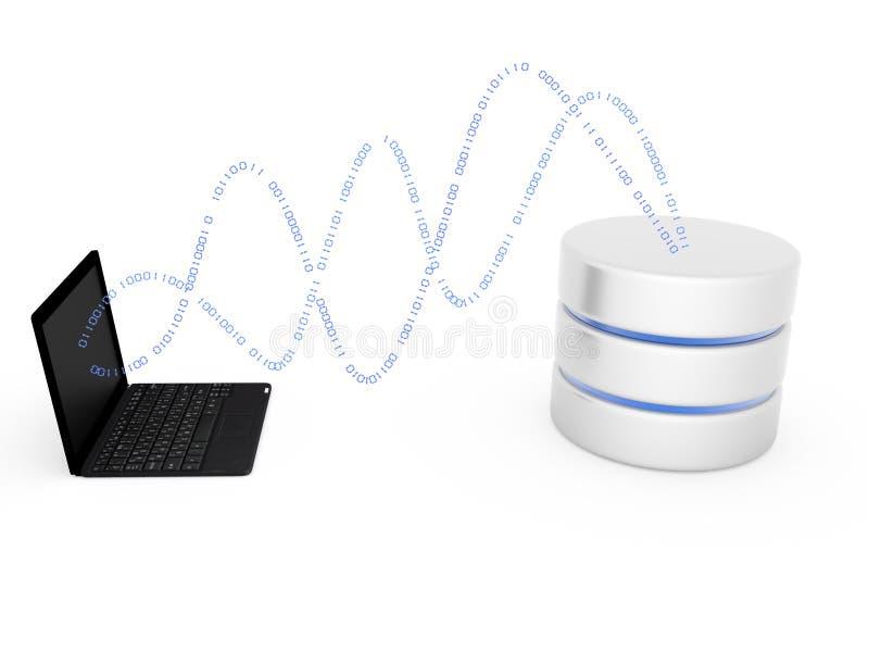 Datenbank- Ikone lizenzfreie abbildung